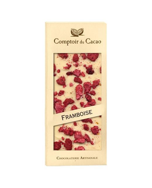 Tavoletta di cioccolato bianco - lampone - Comptoir du Cacao