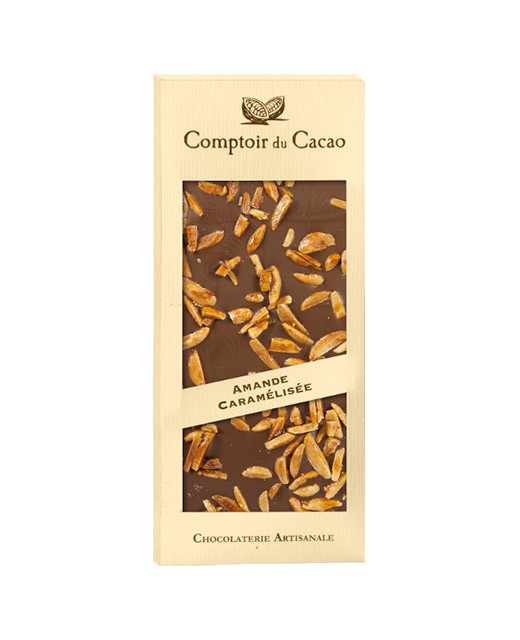 Tavoletta di cioccolato al latte - mandorle caramellate - Comptoir du Cacao
