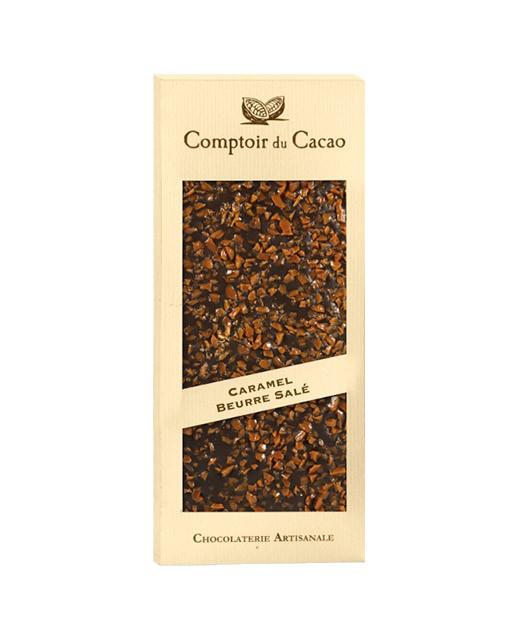 Tavoletta di cioccolato al latte - caramello al burro salato d'Isigny D.O.P. - Comptoir du Cacao