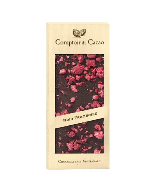 Tavoletta di cioccolato fondente - lampone - Comptoir du Cacao