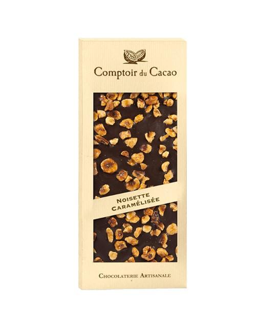 Tavoletta di cioccolato fondente - nocciole caramellate - Comptoir du Cacao
