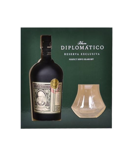 Cofanetto Diplomatico Reserva Exclusiva - 2 bicchieri - Diplomatico