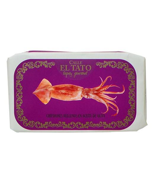 Calamari ripieni marinati all'olio d'oliva  - Calle el Tato