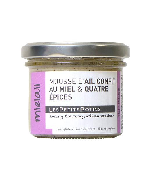 Mousse d'aglio confit al miele e alle 4 spezie - Les Petits Potins