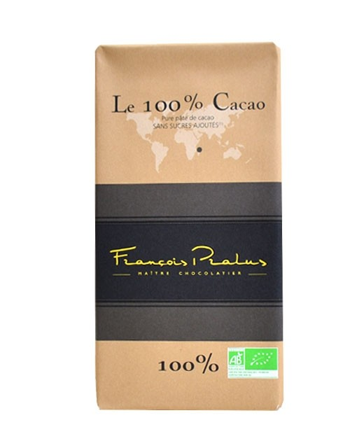 Tavoletta di cioccolato fondente 100% - Madagascar bio - Pralus