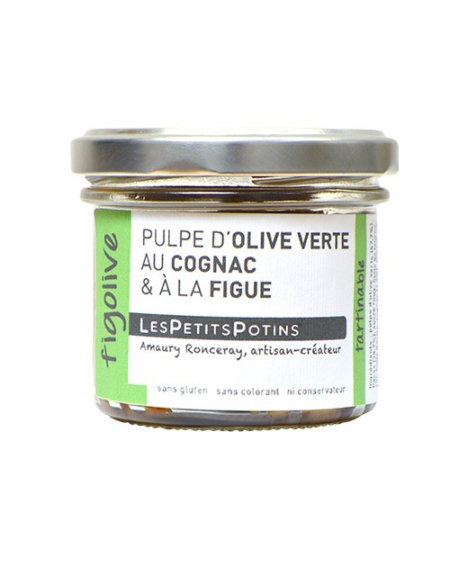 Polpa di olive verdi al Cognac e al fico - Les Petits Potins