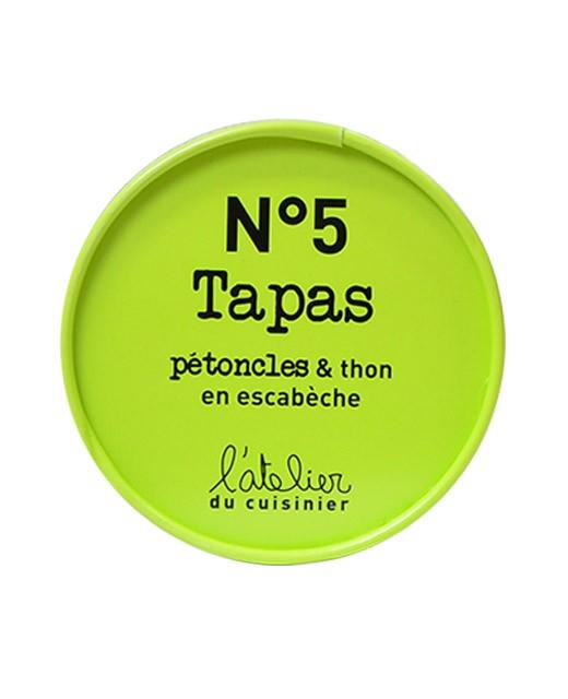 Tapas N°5 - Pettini di mare e tonno alla scapece - L'Atelier du Cuisinier