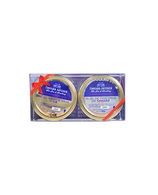 Duo bloc di foie gras di oca e anatra - Edouard Artzner