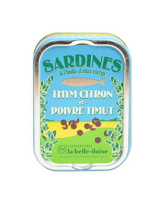 Sardine all'olio vergine d'oliva, timo limone e pepe di Timut - La Belle-Iloise