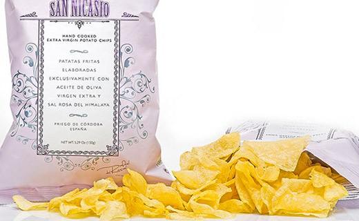 Chips all'olio extra-vergine d'oliva e sale rosa - San Nicasio