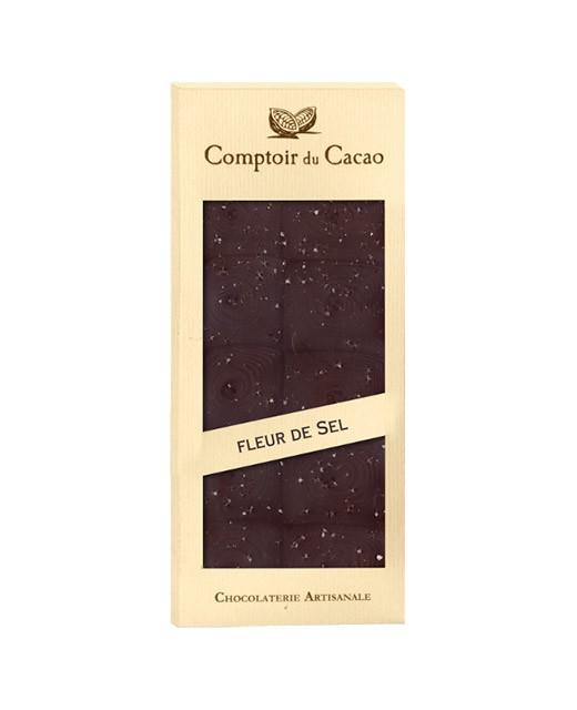 Tavoletta di cioccolato fondente - fiori di sale di Guérande - Comptoir du Cacao