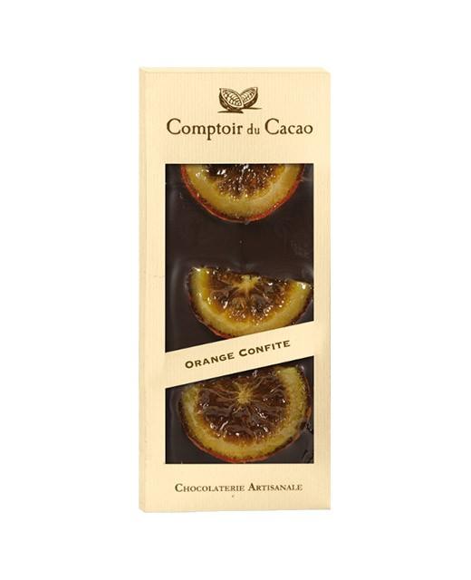 Tavoletta di cioccolato fondente - arancia candita - Comptoir du Cacao