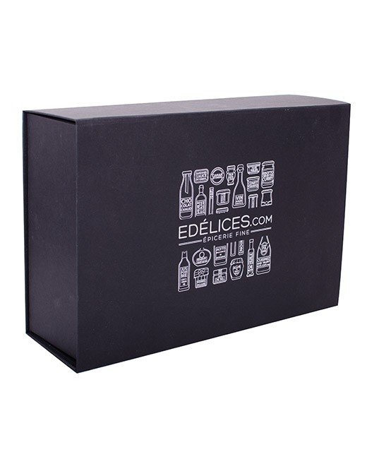 Cofanetto in cartone nero edèlices.com - grande - Edélices