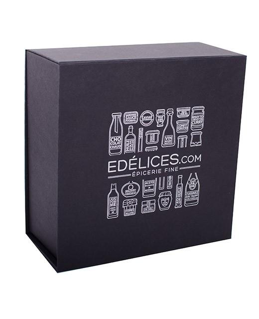 Cofanetto in cartone nero edèlices.com - medio - Edélices