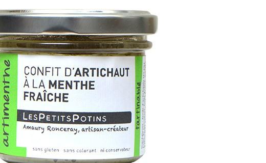 Confit di carciofi alla menta e al peperoncino - Les Petits Potins