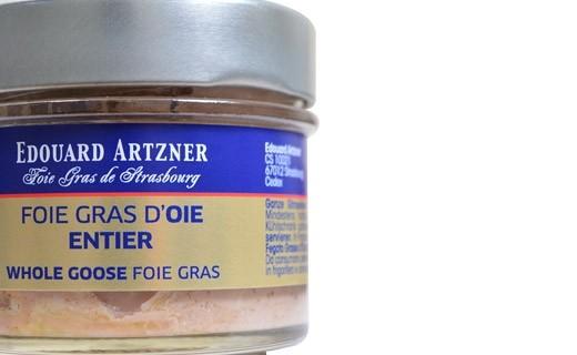 Foie Gras d'oca intero in gelatina 120 g (scatola) - Edouard Artzner