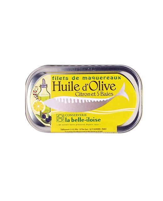 Filetti di sgombro all'olio d'oliva, limone e alle 5 bacche - Belle-Iloise (La)