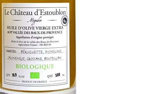 Olio extravergine d'oliva - AOP Vallée des Baux de Provence - Château d'Estoublon