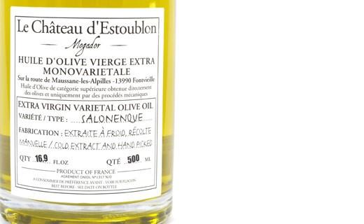 Olio extravergine d'oliva - Salonenque 100%  - Château d'Estoublon