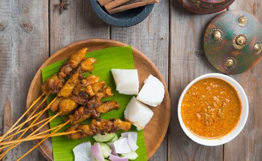 Kit per spiedini Satay Tailandese salsa barbecue - Blue Elephant