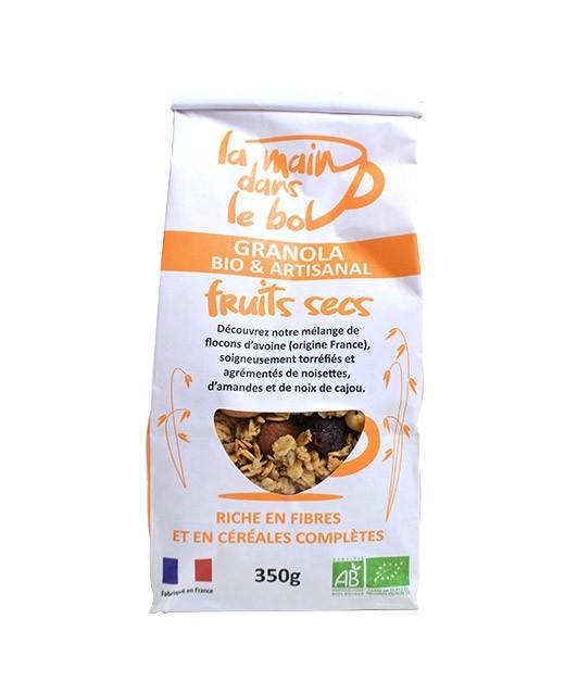 Granola bio - Frutta secca - La main dans le bol