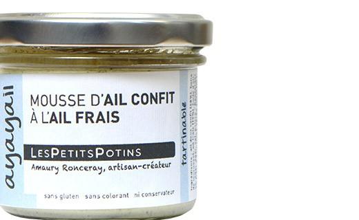 Mousse d'aglio confit all'aglio fresco - Les Petits Potins