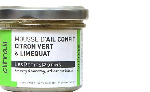 Mousse d'aglio confit, limone e lime - Les Petits Potins