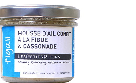 Mousse d'aglio confit ai fichi e zucchero di canna - Les Petits Potins