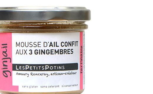 Mousse d'aglio confit ai tre zenzeri - Les Petits Potins
