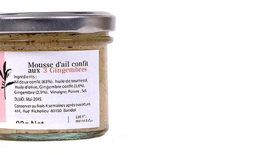 Mousse d'aglio confit ai tre zenzeri - Les Zapéros d'Ann-Zo'