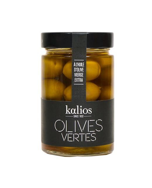 Olive verdi all'olio extra vergine d'oliva -