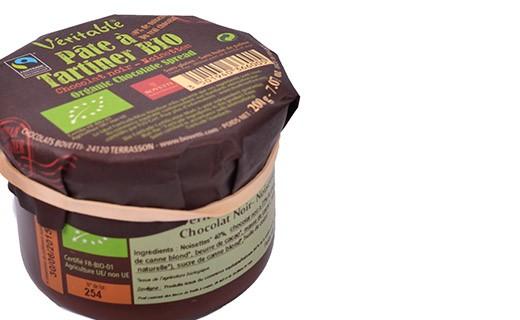 Crema da spalmare - cioccolato fondente e nocciole - Bovetti