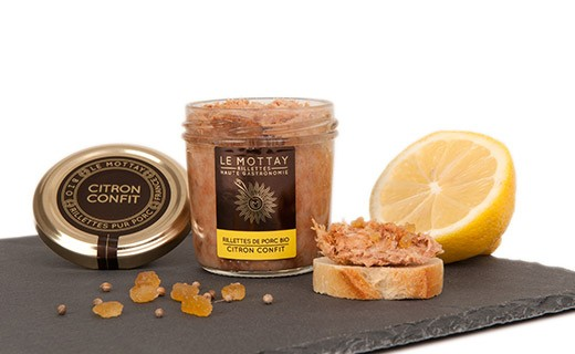 Rillettes di maiale bio al limone candito - Le Mottay Gourmand
