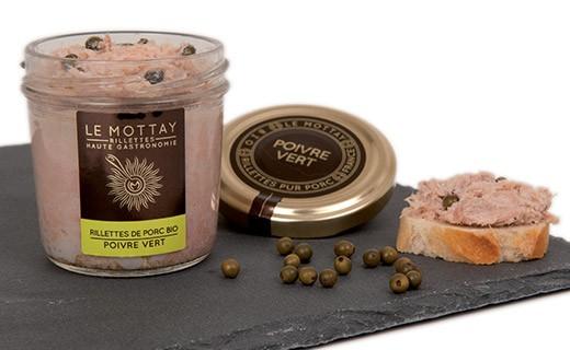 Rillettes di maiale bio al pepe verde - Le Mottay Gourmand