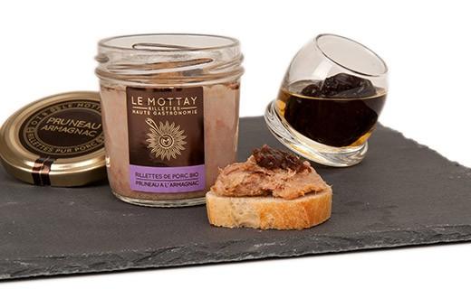 Rillettes di maiale bio alla Prugna e Armagnac - Le Mottay Gourmand