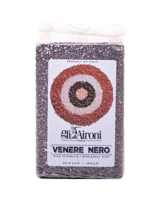 Riso Venere Nero 1 kg - Gli Aironi