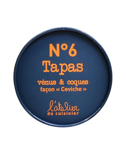 Tapas N°6 - Ceviche di tartufi di mare e cuori di mare - L'Atelier du Cuisinier