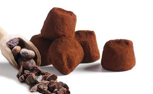 Tartufi di cioccolato Fantasia con scaglie di Fave di Cacao  - Mathez